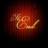 Das Ende auf Vorhang Stockbild