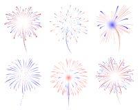 Illustration der Feuerwerke d Stockbilder