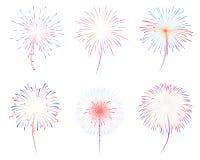 Illustration der Feuerwerke d Lizenzfreie Stockfotografie
