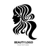 Illustration der Frau mit dem schönen Haar Stockfoto
