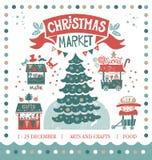 Illustration der frohen Weihnachten und des guten Rutsch ins Neue Jahr lizenzfreie abbildung
