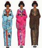 Illustration der Geisha 3D Lizenzfreies Stockfoto