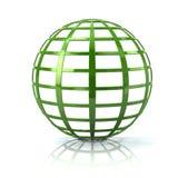 Illustration der grüne Erdkugelikone 3d Stockfotografie