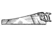 Illustration der Handsäge lizenzfreie abbildung