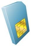 Illustration der Handysim-karten-Ikone Lizenzfreies Stockbild
