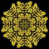 Illustration der hellen Verzierungskarte mit Mandala stock abbildung