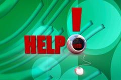Illustration der Hilfen 3d Lizenzfreie Stockbilder