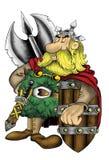 Illustration der hohen Qualität des Slavic- oder Wikinger-Kriegersmaskottchens, Abdeckung, Hintergrund, Tapete lizenzfreie abbildung