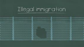 Illustration der illegalen Einwanderung lizenzfreie abbildung