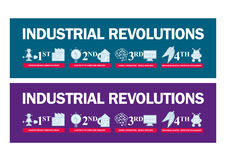 4. Illustration der industriellen Revolution Lizenzfreies Stockfoto