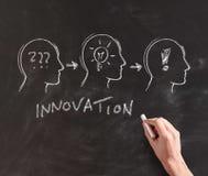 Illustration der Innovation auf Tafel Stockfoto