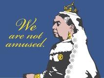 Illustration der Königin-Victoria We Are Not Amused vektor abbildung