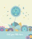 Illustration der künstlerischen Blumenkarte Stockfoto