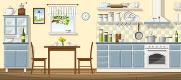 Illustration der klassischen Küche Lizenzfreies Stockfoto