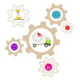 Illustration der Logistikinfrastruktur Stockbilder