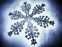 Illustration der Nahaufnahme 3D einer Schneeflocke Lizenzfreies Stockfoto