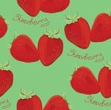 Illustration der nahtlosen Mustererdbeere Lizenzfreie Stockbilder