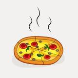 Illustration der Pizza Lizenzfreies Stockfoto