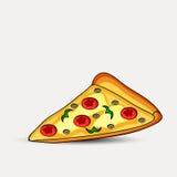 Illustration der Pizzascheibe Lizenzfreies Stockbild
