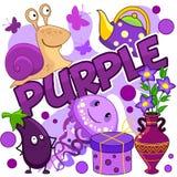 Illustration der purpurroten Farbe stock abbildung