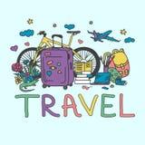 Illustration der Reisesammlung Lizenzfreie Stockbilder