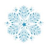 Illustration der Schneeflocke lizenzfreie abbildung