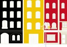 Illustration der Stadt. Stockbilder