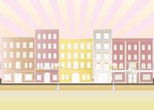 Illustration der Stadt. Stockbild