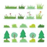 Illustration der unterschiedlichen Art des Baums Lizenzfreies Stockbild
