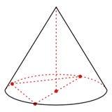 Illustration der Vektor-einzelnen Zeile - Kegel vektor abbildung