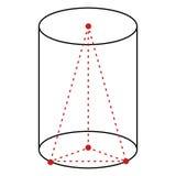 Illustration der Vektor-einzelnen Zeile - Zylinder vektor abbildung