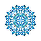 Illustration der Verzierungskarte mit Mandala Geometrischer Kreis stock abbildung