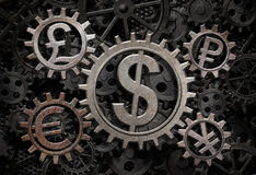 Illustration der Währungsfunktionsgänge 3d Stockfotografie