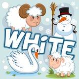 Illustration der weißen Farbe stock abbildung