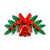 Illustration der Weihnachtsgirlande Lizenzfreies Stockbild