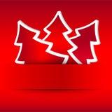 Illustration der Weihnachtskarte Lizenzfreie Abbildung