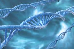 Illustration der Wiedergabe 3D, DNA-Moleküle Lizenzfreie Stockfotos