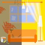 Illustration der Wohnungsreparatur Lizenzfreies Stockfoto