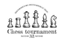Illustration des échecs Photo libre de droits