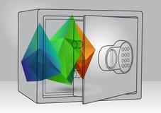 Illustration des économies avec les éléments 3d Photos libres de droits