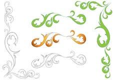 Illustration des éléments de conception florale Photographie stock libre de droits