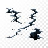 Illustration des éléments de vecteur de fissures Images stock