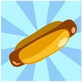 Illustration des amerikanischen Hotdogsandwiches stock abbildung