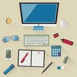 Illustration des Arbeitsplatzes Lizenzfreie Stockfotografie