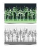 Illustration des arbres verts Photographie stock