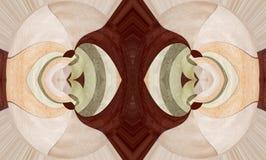 Illustration des aufwändigen lamellierten hölzernen Designs Lizenzfreie Stockfotografie
