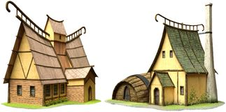 Illustration des bâtiments 3D d'imagination
