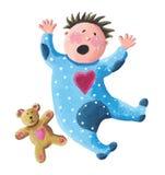Illustration des Babyschreiens lizenzfreie abbildung