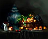 Illustration des baies sur la table illustration stock