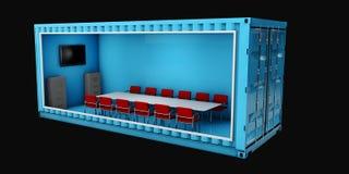 Illustration des Behälter-Büros Wiederverwendung für das Errichten Stockbilder